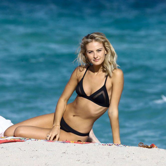4cf72dc64a Celebrity Girls Pics: Selena Weber In Black Bikini At The Beach In ...