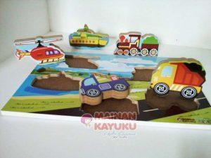Jual Chungky Puzzle Transportasi di Toko Mainan Jogja Termurah