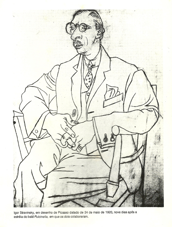 Suficiente Desenhos de Picasso para partitura Ragtime e uma caricatura de  BS63