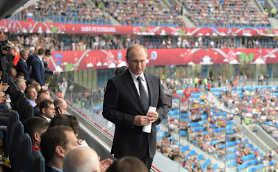 Russian President at the opening ceremony of the 2017 Confederations Cup.