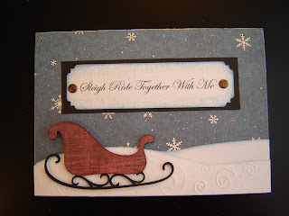 sleigh ride together, vintage Christmas card