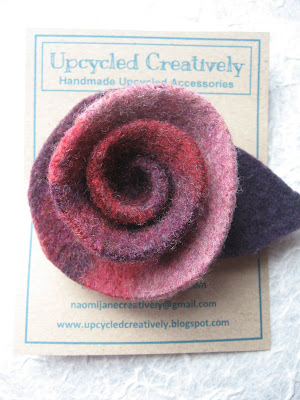 Upcycled Felt Rose Tutorial