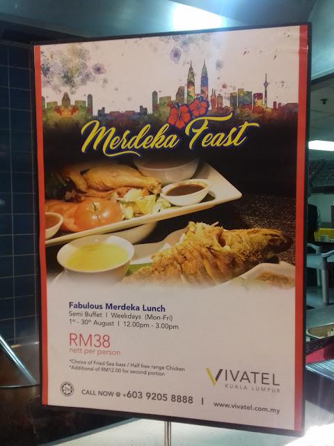 Vivatel Kuala Lumpur tawarkan Fabulous Merdeka Semi Buffet Lunch