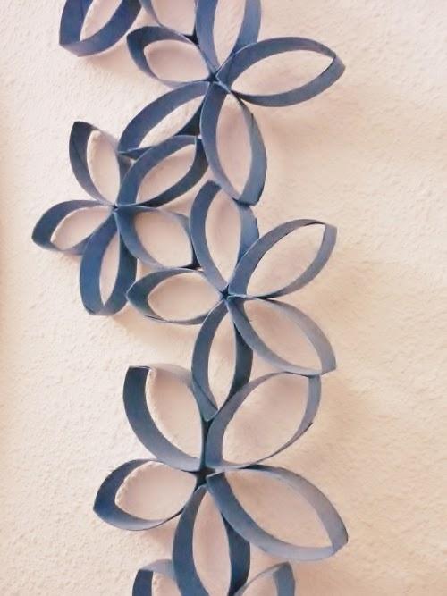 Manualidades Flores Con Tubos De Papel De Bano