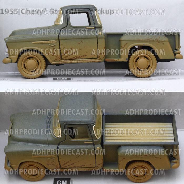 Miniatur Chevy Stepside Pick-Up 1955 Dirt (Blue-32K)