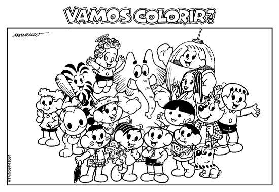 Desenhos Para Colorir Turma Da Mônica 06 Atividades E