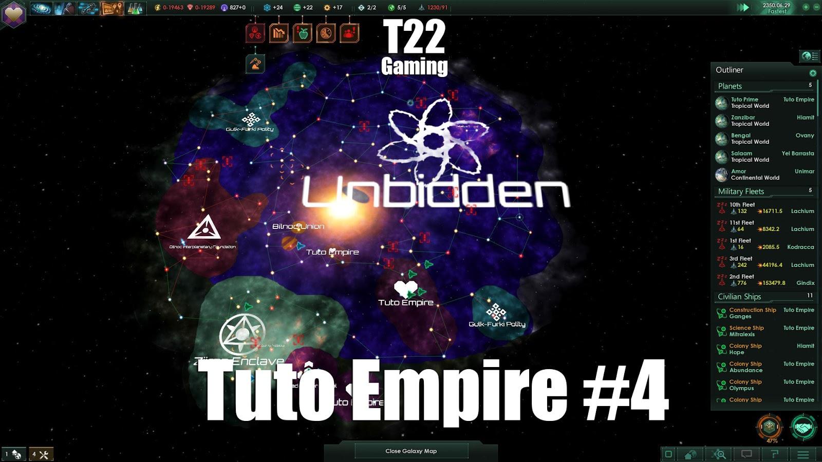 T22 Gaming: Stellaris: Tuto Empire #4