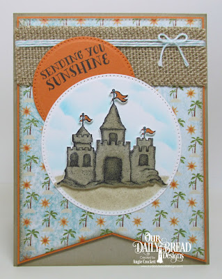 Our Daily Bread Deisgns Stamp Set: Sending You Sunshine, Our Daily Bread Designs Custom Dies: Sandcastle, Pierced Circles, Pierced Rectangles, Clouds and Raindrop, Our Daily Bread Designs Paper Collection: By the Shore