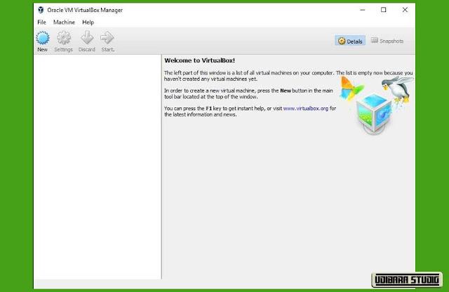 INSTALASI VIRTUAL BOX: Tampilan Aplikasi Virtual Box
