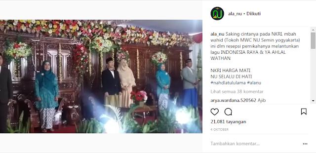Jadi Viral, Lagu 'Indonesia Raya' Berkumandang di Acara Pernikahan