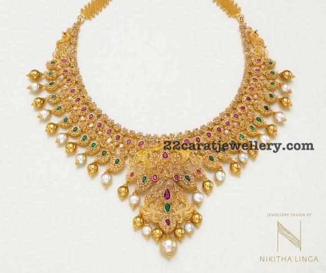Mango Necklace by Nikitha Linga