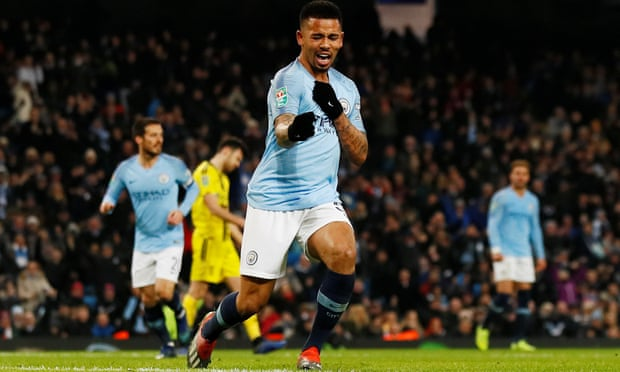 Wednesday's League Cup Semifinal 1st Leg: Man City 9-0 Burton Albion -  Gabriel Jesus Scores Four As City Mercilessly Destroy Nigel Clough's Side