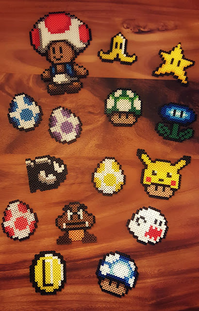 Super mario bros perler beads boy's room
