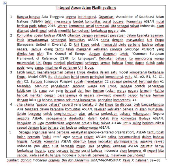 Belajar Bahasa Indonesia Teks Eksposisi