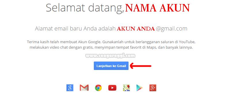 Selesai membuat akun Gmail Tanpa Verifikasi