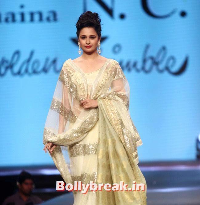 Yuvika Choudhary, Beautiful Bhagyashree, Gauhar, Tara, Perizad, Divya at Cancer Fundraiser Fashion Show