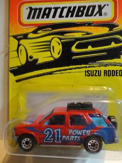 "Matchbox #56 Red ""Power Parts #21"" Isuzu Rodeo"