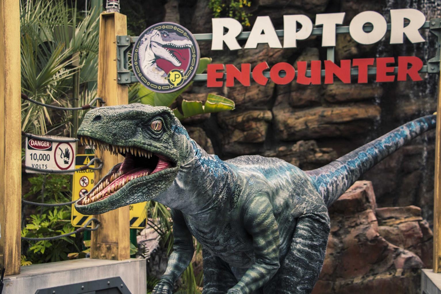 Blue, a Velociraptor da franquia Jurassic World da Universal Pictures