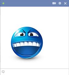 Angry Teeth Sticker