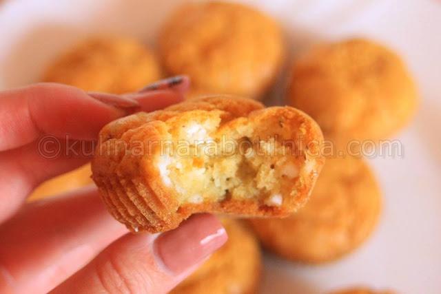 Солени мъфини със сметана - рецепта