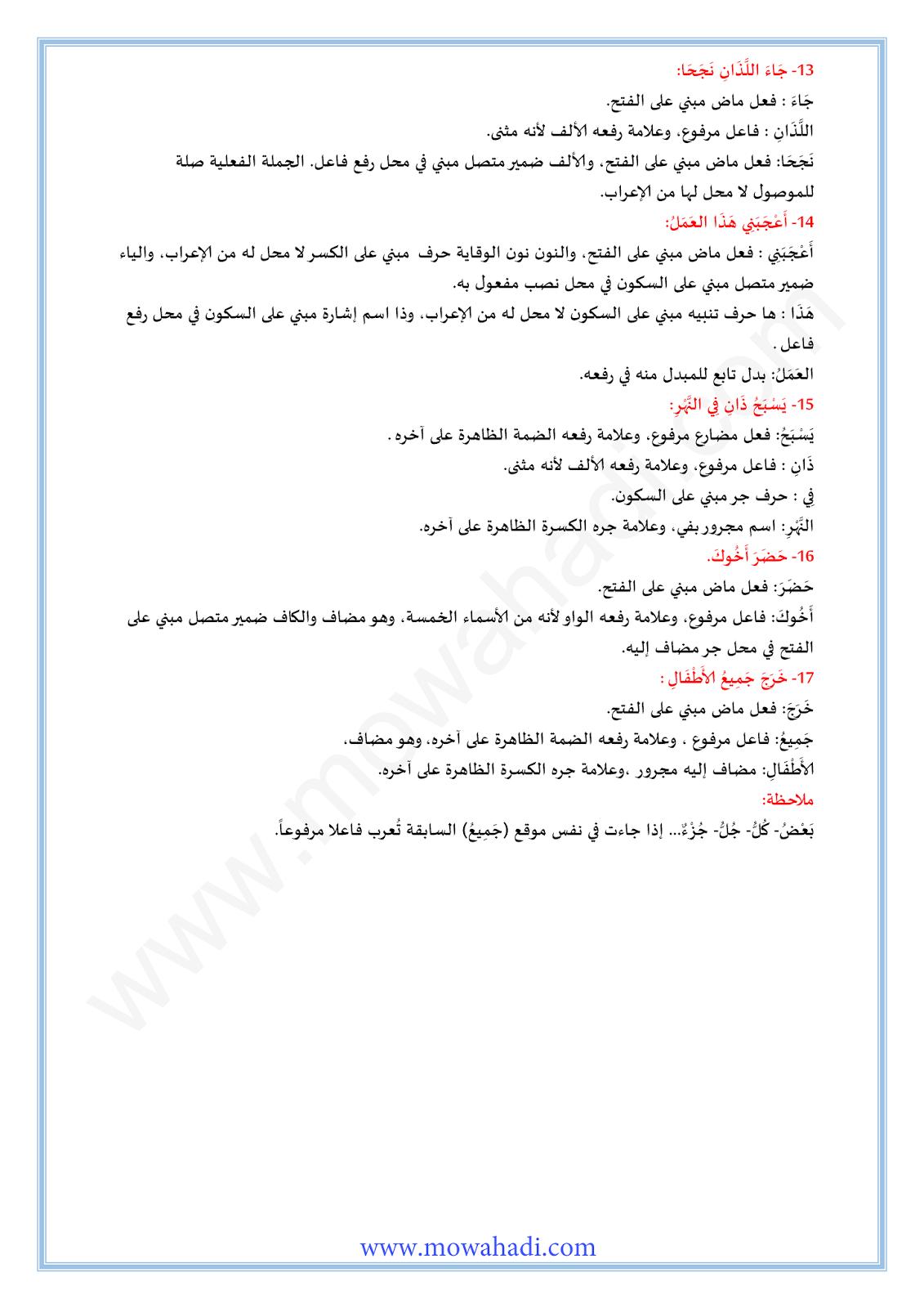 الفاعل : الإضمار الواجب و الجائز-4