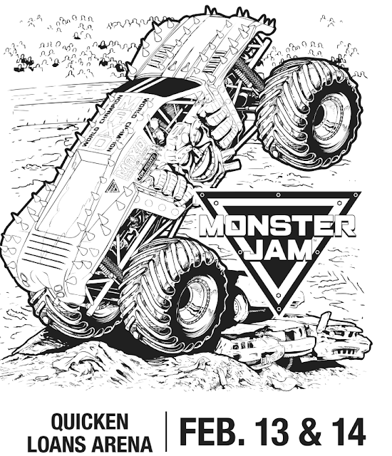 #MonsterJam CLE Coloring sheet! Enter to win 4 Tickets