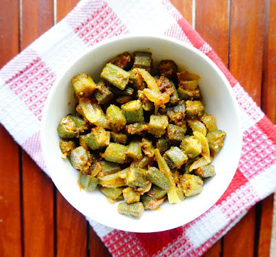 Bhindi,okra,ladyfinger,north Indian,vegetarian,dry vegetable,healthy
