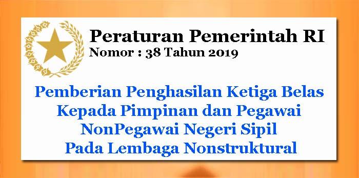 PP Nomor 38 Tahun 2019