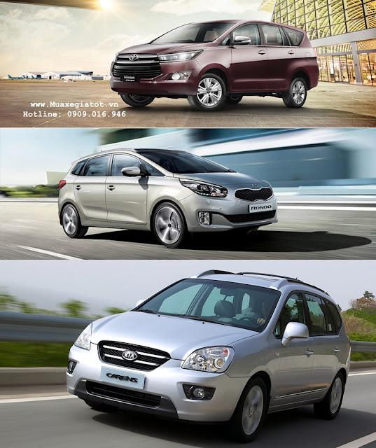 Toyota Innova 2016, Kia Rondo, Kia Carens. Bạn chọn xe nào ?
