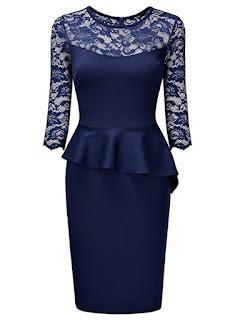 floral peplum dress