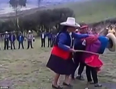 Married woman publicly whipped in Peru after she was caught cheating with her nephew