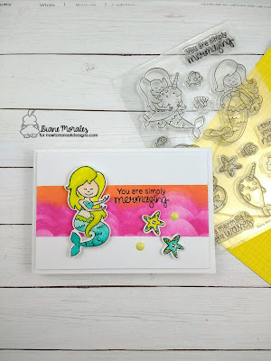 You are Mermazing a card by Diane Morales | Narly Mermaid Stamp Set by Newton's Nook Designs
