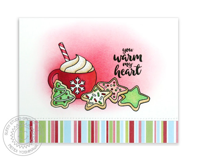 Sunny Studio Stamps: Mug Hugs Christmas Card by Mendi Yoshikawa