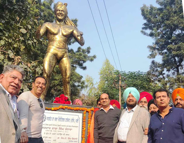Dara Singh's 90th birthday was unveiled at Mohali.