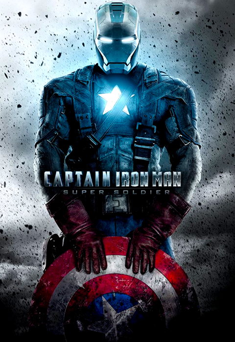 Poster Captain Iron Man Mashup