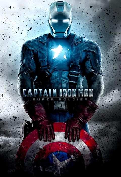 Poster Captain Iron Man Mashup