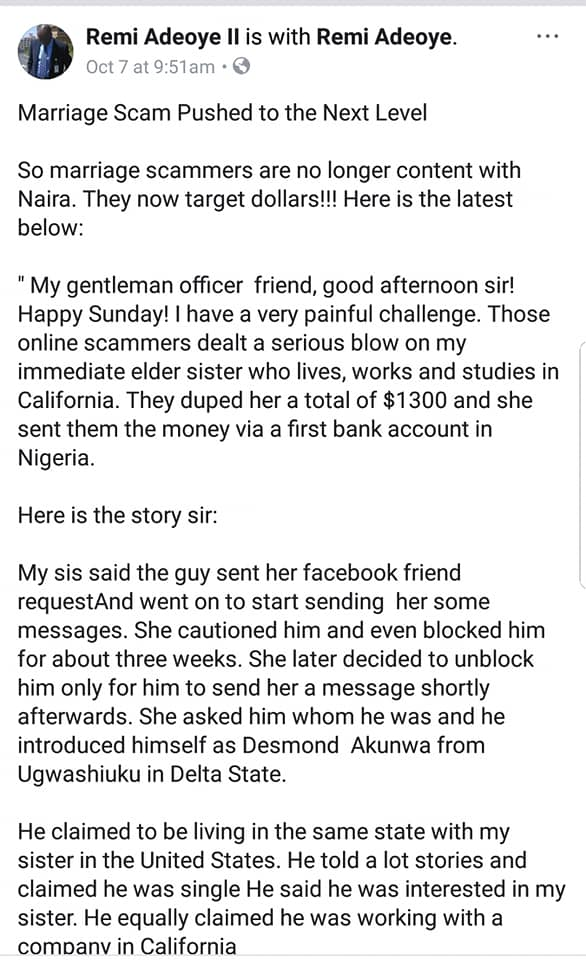 US Based Nigerian Lady Narrates How She Was Scammed Of N450K by Online Fraudsters
