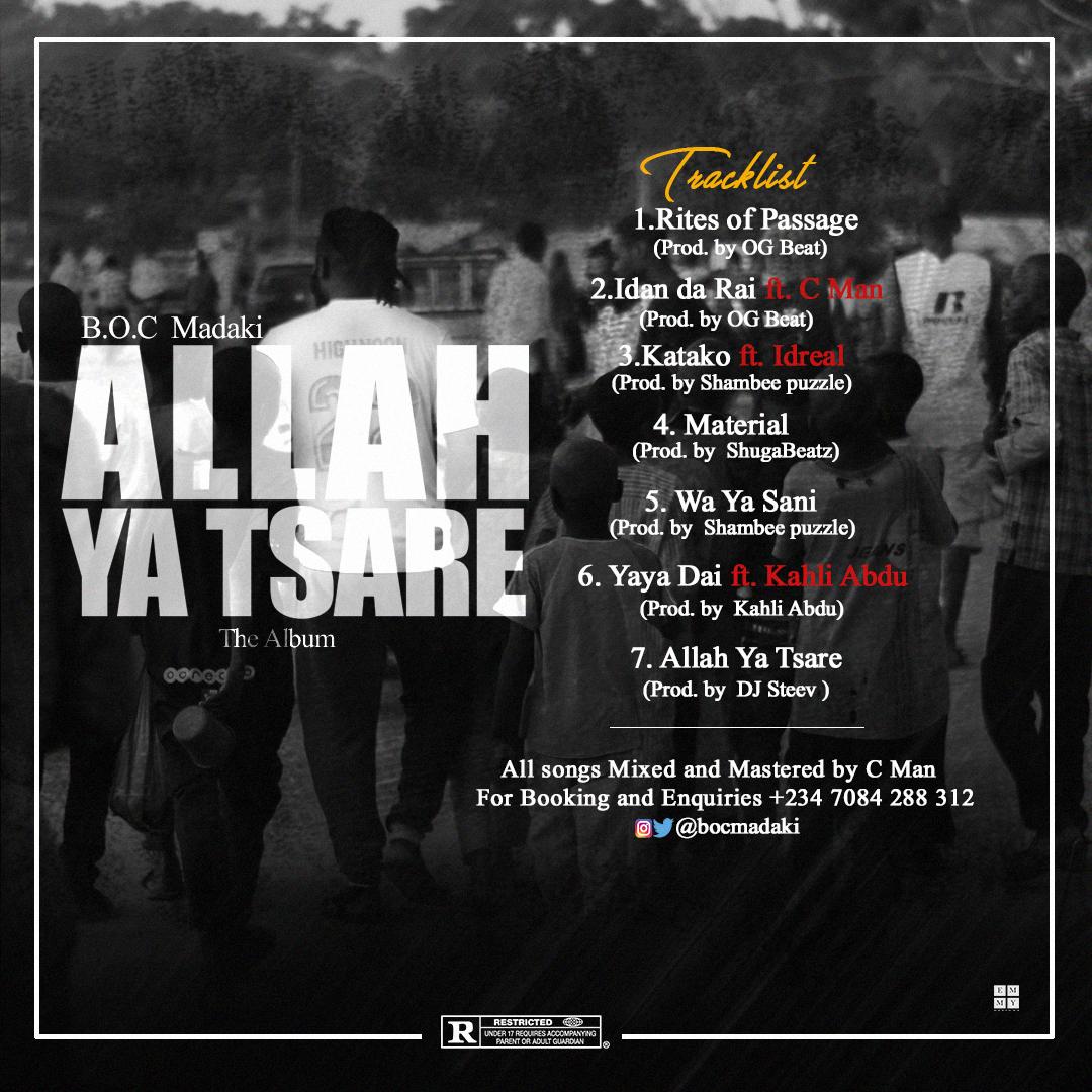 DOWNLOAD BOC - ALLAH YA TSARE MP3 - eTunez