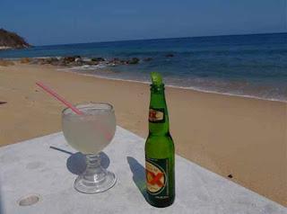 Margarita Beer Mexican Beach Puerto Vallarta Mexico