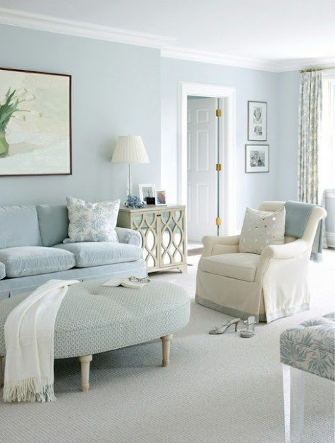 Shabby Chic Decorating with Beige and Duck Egg Blue