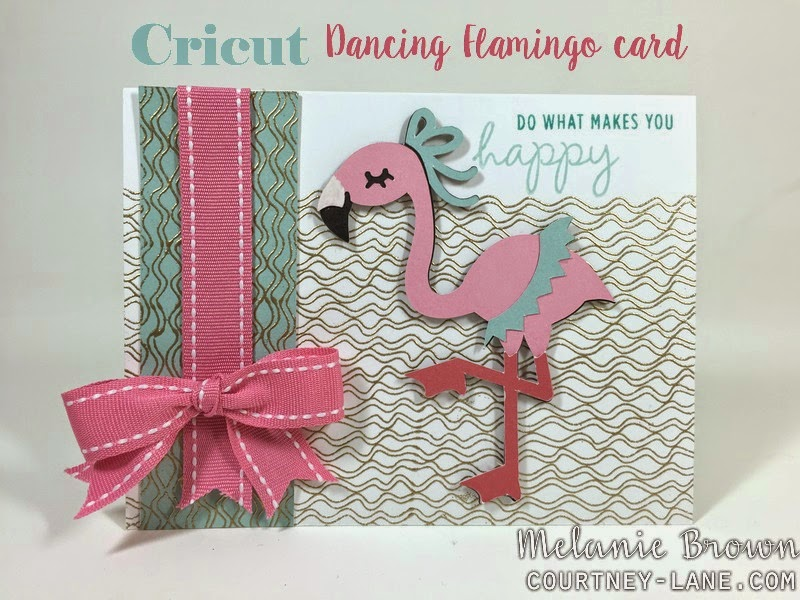 Cricut Dancing Flamingo card