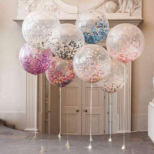 decoración con globos para 15 años
