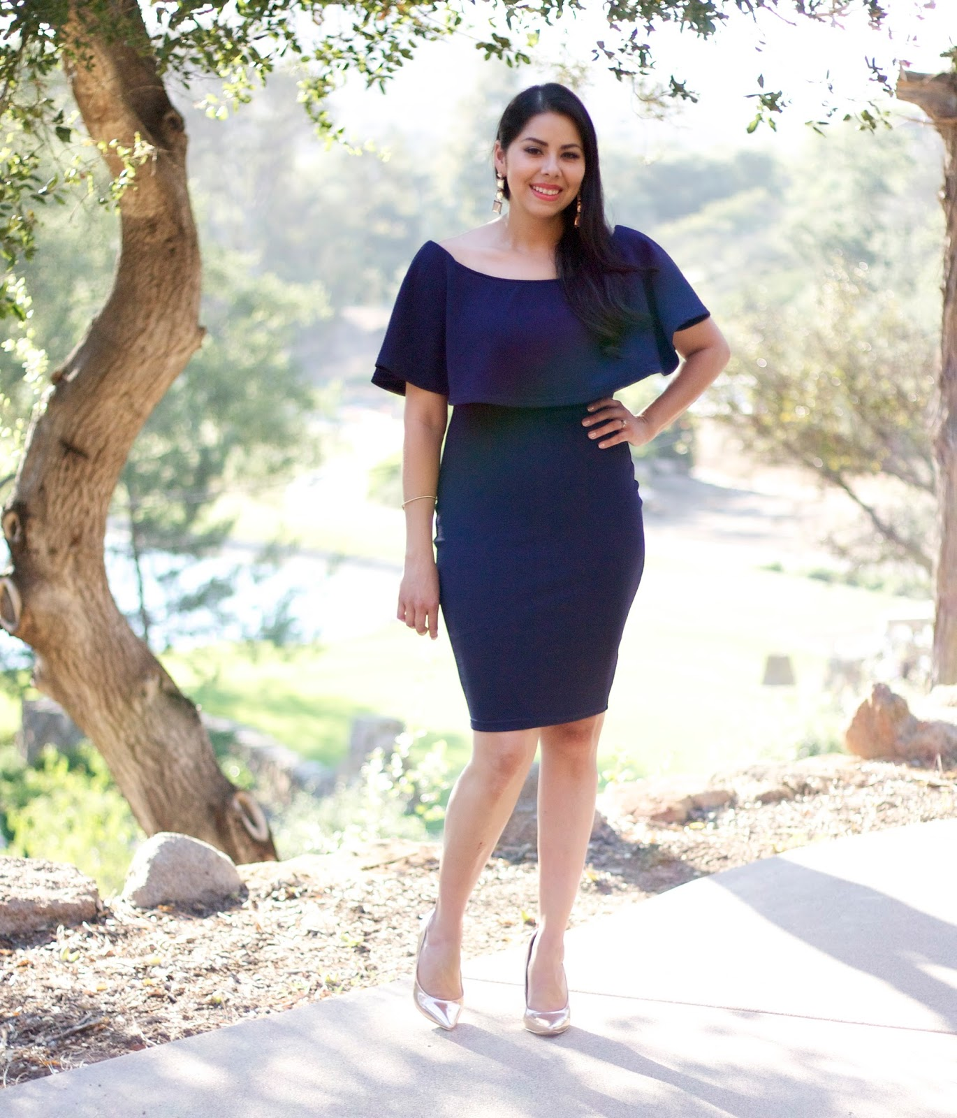 San Diego Fashion blogger, what to wear to a wedding, ax paris midi dress, off the should dress, socal fashion blogger, california fashion blogger