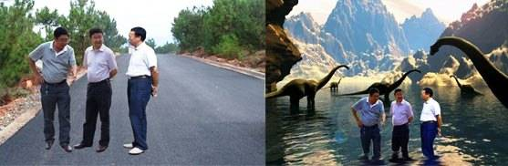Prefeito Li Ningyi e vice-prefeito Tang Xiaobing inspecionam estrada recentemente construída em Lihong Town