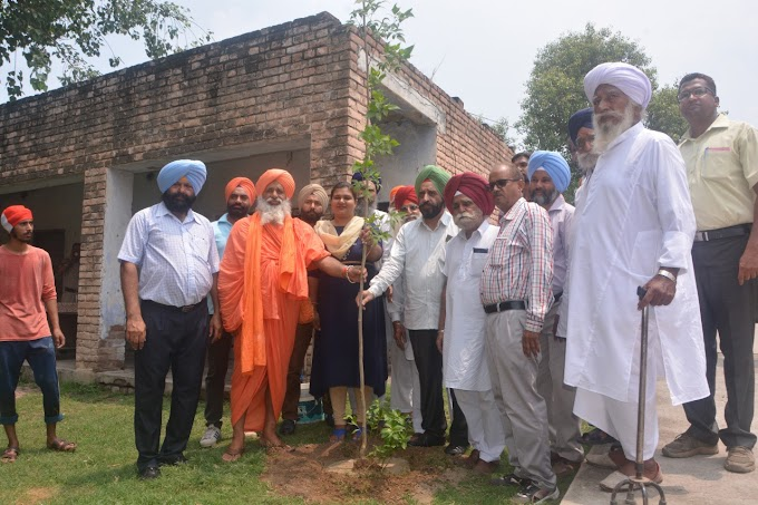 Sant Seechewal and S.D.M planted plants at Vaternary Hospital