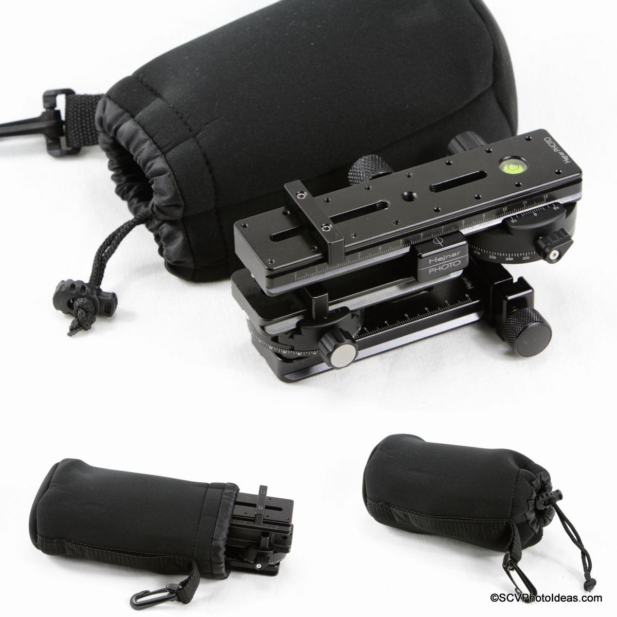 SCV Mini Multirow head packed in Matin Neoprene Lens Pouch L