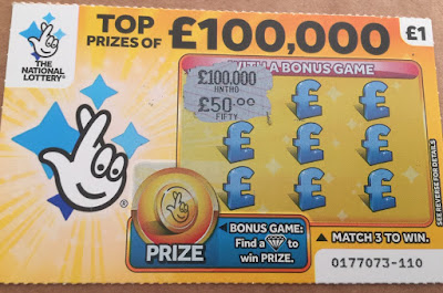 £1 Yellow National Lottery Scratch Card