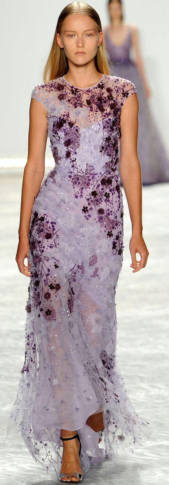 Monique Lhuillier 2015, dresses, purple dress