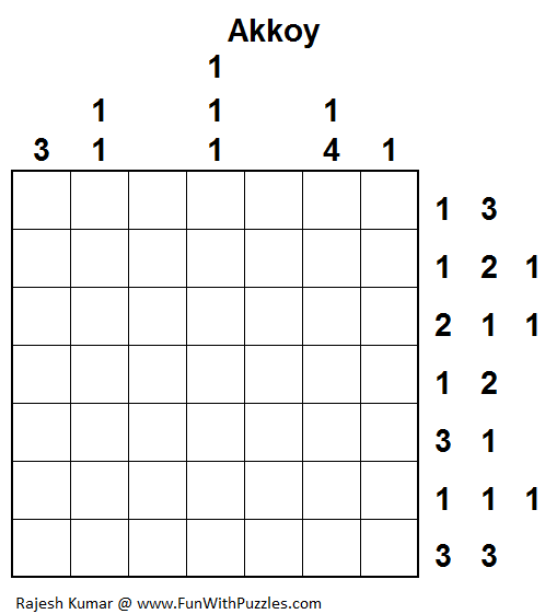 Akkoy (Logical Puzzles Series #7)