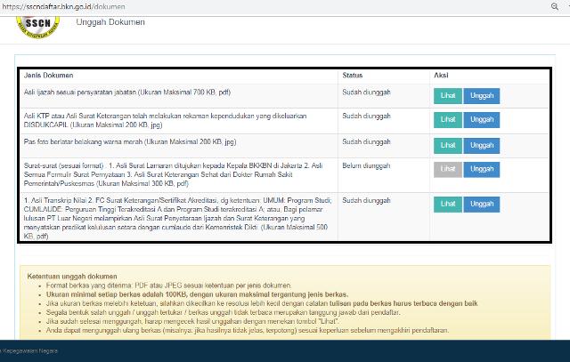 panduan upload dokumen cpns di sscn bkn